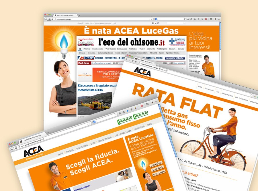 ACEA: display ADV, sito istituzionale, landing page